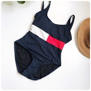 Tommy Hilfiger color block one piece swimsuit 12